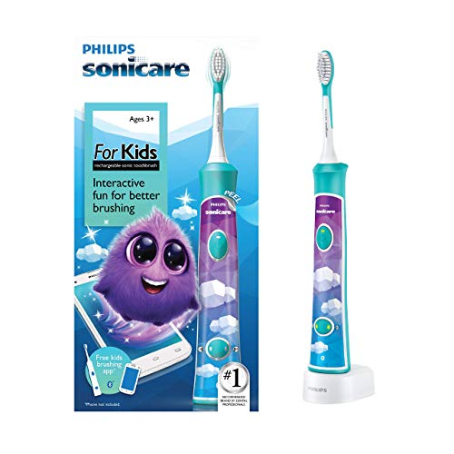 Philips Sonicare for Kids Bluetooth Connected Rechargeable Electric Toothbrush, HX6321/02 | Exclusive