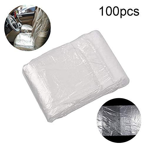 Joeesun Proteggi Coprisedili Monouso Per Auto - Trasparente in Plastica Resistente Trazione E Resistente Proteggi Coprisedili Addensato Antipolvere 145 * 80cm/Trasparente
