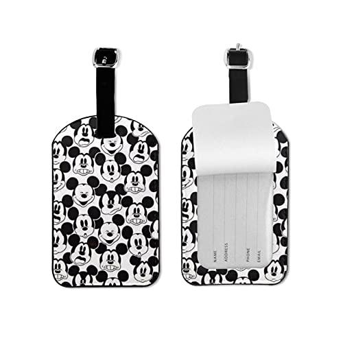 Mickey Mouse de alto grado de cuero de la PU de la personalidad profesional DIY impresión diseño maleta privacidad etiqueta de equipaje moda