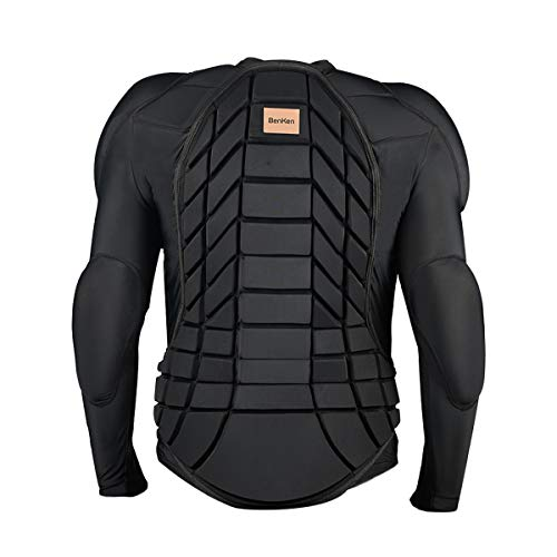 BenKen Men's Women's Professional Anti-Collision Sports Shirts Motorcycle Protective Jacket Full Body Armor Protector Back Protector for Skateboarding Skating Snowboarding Cycling