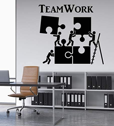 Teamwork Vinyl Wall Decal Office Space Inspirational Words Business Stickers Mural #2548di