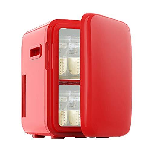 GUTYRE Refrigerador De Belleza, Mini Refrigerador Congelador, Refrigerador Doméstico De Belleza Profesional, Gabinete De Almacenamiento De Cosméticos para El Cuidado De La Piel,Rojo