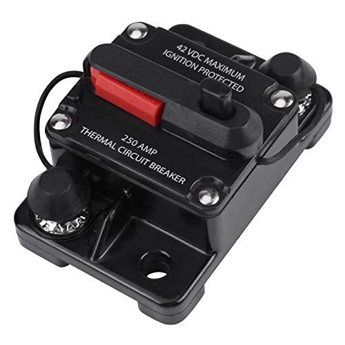 Interruttore di circuito audio, interruttore automatico per auto stereo in linea audio professionale, impermeabile per protezione da sovracorrente audio per auto Car(250A)