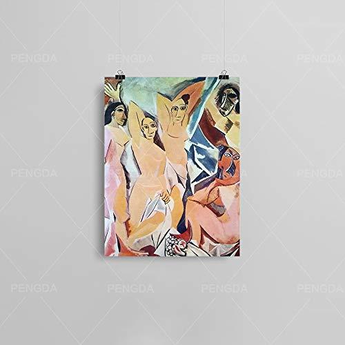 HGlSG (No Frame) 40x60cm Nette Karikatur Zebra Bär Tiere Leinwand Malerei Nordic Style Kinderzimmer Dekor Poster und Druck Kinderzimmer Wandkunst Foto No Frame