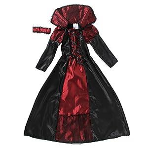 EOZY-Vampire Queen Costume - Vampire Girl Costume - Twilight - Girls Girls 'Dress And Accessories for Halloween Carnival, Cosplay 8 spesavip