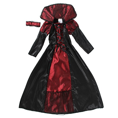 EOZY-Vampire Queen Costume - Vampire Girl Costume - Twilight - Girls Girls 'Dress And Accessories for Halloween Carnival, Cosplay 7-9 Anni
