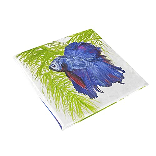 Special Beautiful Cute Blue Fighting Fish Cushion,15.7in Square Office Chair Cushion,seat Cushion Office Chair Car Seat Cushion - Prevention Sciatica & Back Pain Relief