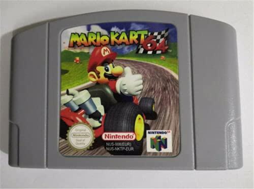 Nuevo Mario Kart Golden Eye 007 Super Smash Bros Super Mario 64 Bad Fur Day N64 Video Juego Cartucho Tarjeta Para Nintendo N64 EU PAL Versión (Mario Kart 64)