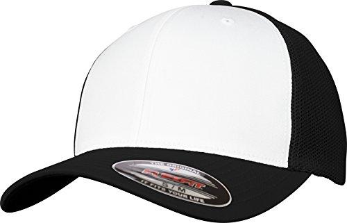 Flexfit Mesh Colored Front Unisex Kappe für Damen und Herren, Mehrfarbig (blk/Wht), L/XL