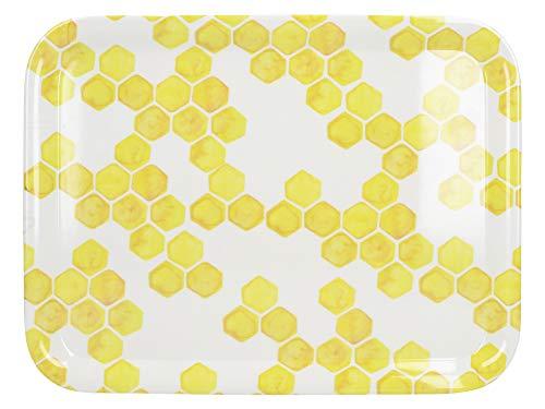 Creative Tops C000451 OTT Plateau de Service Petit Modèle Abeille Yourself Plastique Blanc/Jaune