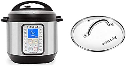 Instant Pot Duo Plus 9-in-1 Electric Pressure Cooker, Sterilizer, Slow Cooker, Rice Cooker, Steamer, saute, 6 Quart, 15 One-Touch Programs & Tempered Glass Lid, 9 in. (23 cm), 6 Quart, Clear