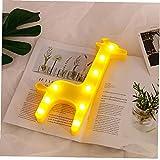 Tuimiyisou Se Ilumina la Noche Linda de la Jirafa de la lámpara de Escritorio de Navidad Noche de la lámpara para el Dormitorio del bebé de los niños Decoración Amarillas Home Gadgets