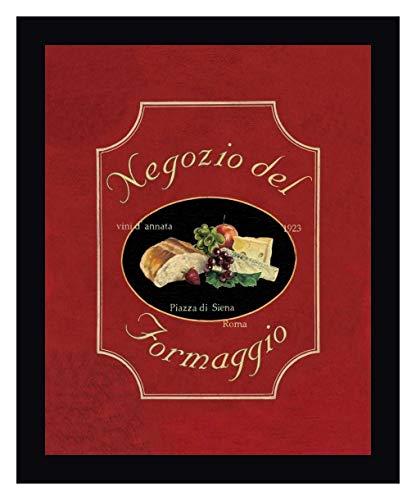 Negozio del Formaggio by Catherine Jones 20' x 24' Black Framed Canvas Giclee Art Print - Ready to Hang
