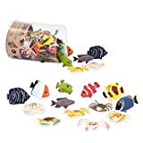 Terra by Battat – Tropical Fish World – Assorted Miniature Sea Animals, Toy Fish, & Tropical Fish Toys for Toddlers 3 & Up (60 Pc), Multicolor