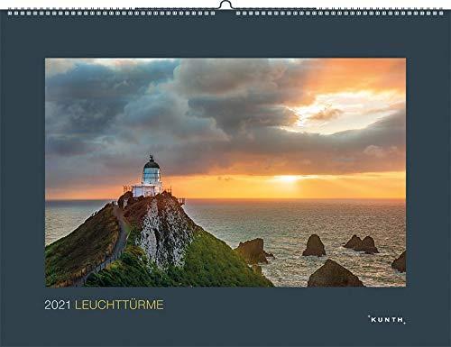 Leuchttürme 2021: Wandkalender (KUNTH Wandkalender Black Edition)