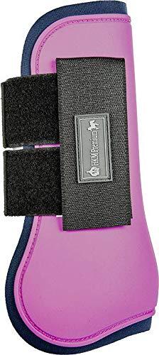 HKM Gamaschen -HKM Premium- für Vorderbeine, pink/dunkelblau, Vollblut