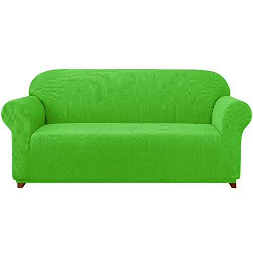 Subrtex Sofa Cover 1-Piece Stretch Couch Slipcover Soft Couch Cover Loveseat Slipcover Armchair Cover Furniture Protector Machine Washable(X-Large, Grass Green) -  SBTSFCL1004