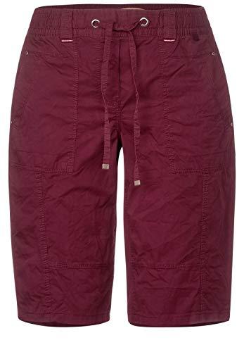 Cecil Damen Lockere Shorts aus Baumwolle Burnt Scarlet red 28