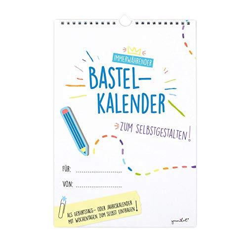 Bastelkalender undatiert zum Selbstgestalten I DIN A4 Format I Fotokalender Geburtstagskalender ohne Jahr I zum Basteln, Malen für Fotos DIY I dv_380