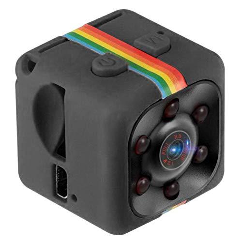 Poapo Mini cámara, cámara pequeña con Interfaz USB, cámara HD de 1080P, cámara de Video con visión Nocturna por Infrarrojos, grabadora DVR, Adecuada para Uso en Interiores y Exteriores