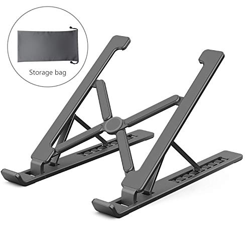 Portable Laptop Stand, Foldable Laptop Stand, Suitable for MacBook Pro Lapdesk Aluminum Computer Cooling Laptop