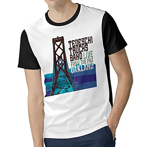 Men Polyester Soft Short Sleeve top T`edeschi&T`rucks Stylish Round Neck T Shirts Suitable for Four Seasons XX-Large Black