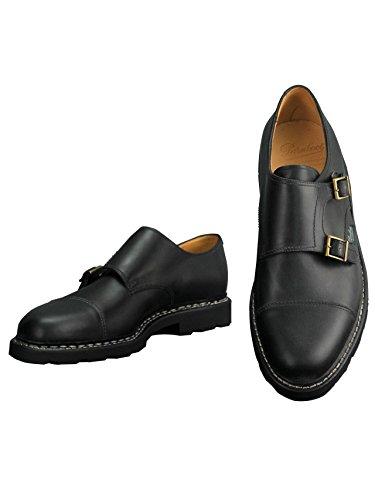 [パラブーツ] モンクシューズ WILLIAM ウィリアム メンズ靴 ブラック オイルドレザー レザースニーカー ダ...