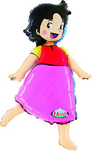 Toyland® Folienballon in Heidi-Form, 101,6 cm, Motiv: Mädchen der Alpen