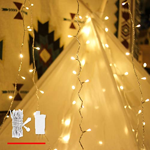 LOUIS CHOICE 100 LED String Lights, Decorative Lights String with Plug and Timer, 8 Functions