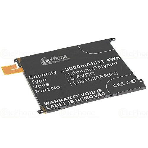 cellePhone Batteria Li-Polymer Compatibile con Sony Xperia Z Ultra (sostituita LIS1520ERPC)