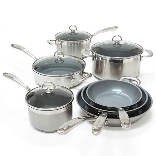 Chantal Induction 21 Steel 9 Piece Cookware Set