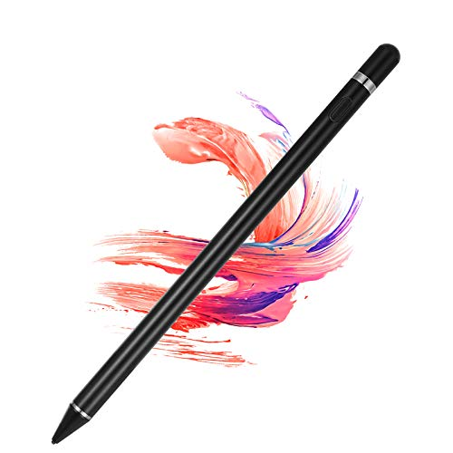 Active Stylus Pens for Touch Screens, Digital Stylish Pen Pencil Rechargeable Compatible with Most Capacitive Touch Screens (Black)