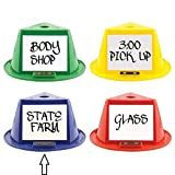 Auto Dealer Supplies Magnetic Roof Toppers - Magnetic Car Top Hats - Set of 10 - with Dry Erase Panels (Blue)