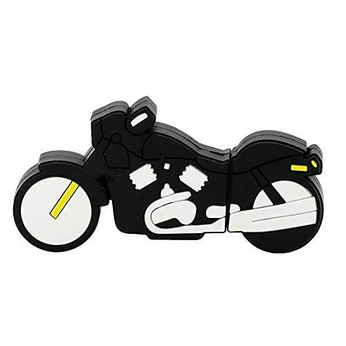 Unidad Flash USB 32GB Cool Racing Moto Motocicleta Forma 8G Memory Stick U Disk - Negro