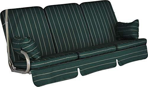 Angerer 1020/026 Exklusiv-Schaukelauflage, 3-Sitzer Design, Faro grün