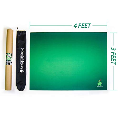 Meeple Majesty Tabletop Gaming Mat 36' x 48' with Travel Bag & Storage Tube   for Board Games   Dice   Cards & RPG's