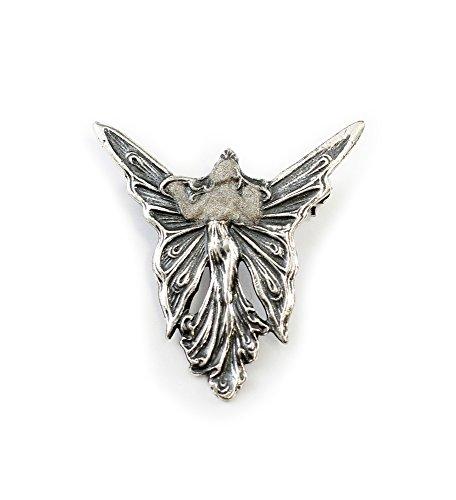 Silber-Brosche im Jugendstil Schmetterlingsfrau