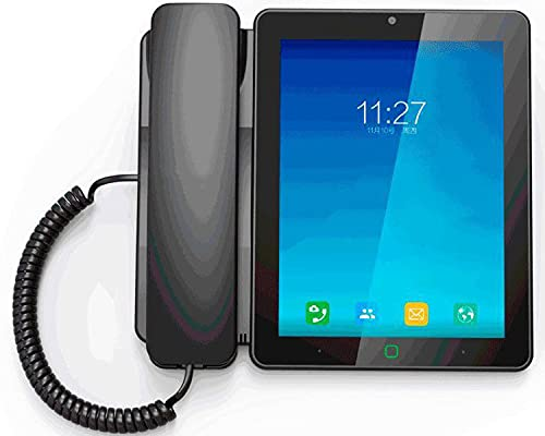 HJYUIK Desktop Smart Wireless Teléfono Video Fijo Teléfono Fijo 3G 4G Tarjeta SIM Android Smart Smart Pantalla Táctil Teléfono De Videollamada