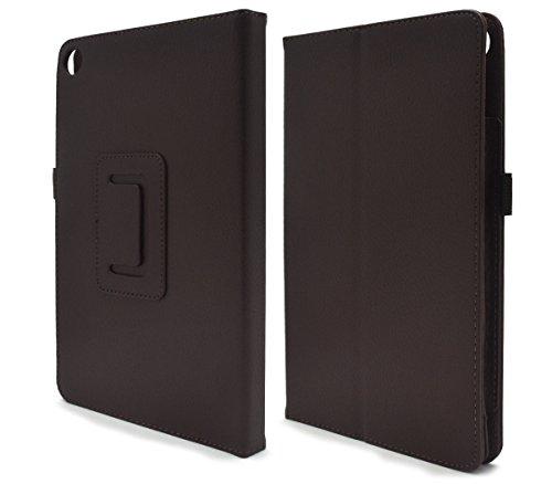 PLATA Kindle Fire HD 8 (2016版 第6世代) ケース レザー スタンド カバー キンドル ファイアー 無地 シンプル 手帳型【 ブラウン 】