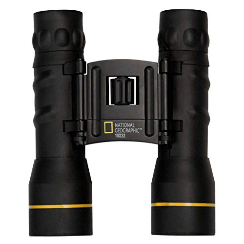 National Geographic Compact Binoculars 10x32 Foldable Roof-Prism Binoculars for Bird Watching, Hunting, Hiking & Sports Events | Lightweight Binoculars High Power 10x Magnification & Water-Resistant