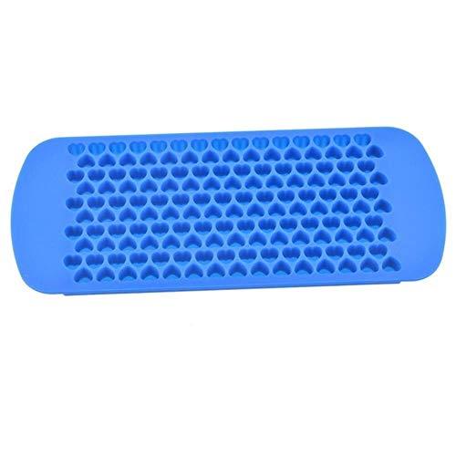 DIY creatieve kleine ijsblokjesvorm vierkante vorm siliconen ijslade fruit ijsblokjesmachine bar keuken accessoires Blue 150 Grid