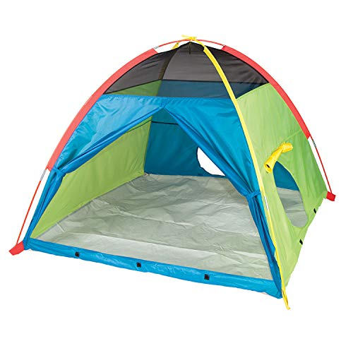 "Pacific Play Tents 40205 Super Duper 4 Kids Playhouse Tent - 58"" x 58"" x 46"""