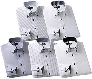 【5枚組】 品質自慢!形態安定ワイシャツグレーセット メンズ