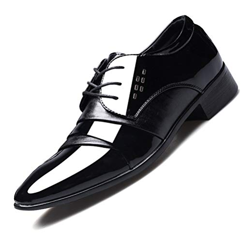 Scarpe Eleganti da Uomo Scarpe Eleganti in Pelle da Sposa Eleganti in Pelle Lucida Scarpe da Lavoro da Lavoro all'aperto Stringate di Grandi Dimensioni