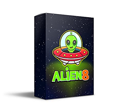 Alien8 - Fun Card Game for Kids, Tweens & Families. Excellent Way to Practice Basic Math While...