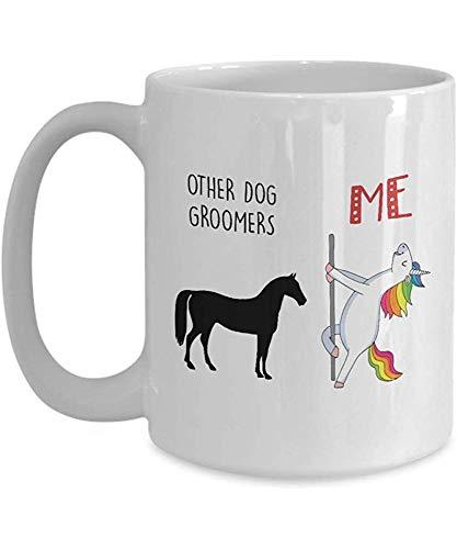 Taza Unicornio divertido regalo para peluquería canina Otros peluqueros caninos Versus Me Pole Dancing Unicorn Coffee Tea Cup Mug