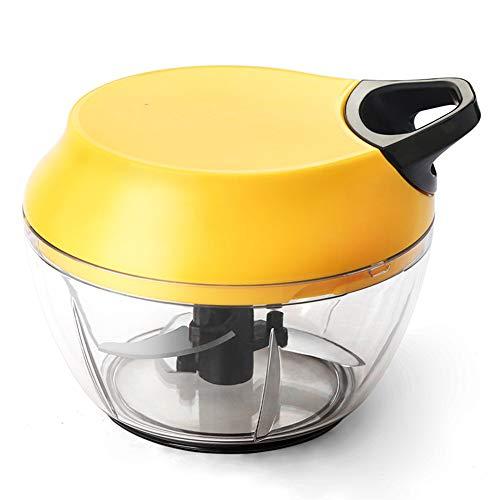 MXMYFZ Manueller Nahrungsmittelzerhacker, Zuggestänge Kleiner Home Use Fleischwolf Gemüsehacker Mini Multifunktionsküchenmaschine