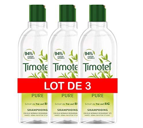 imotei Shampoing Femme Pure, Extrait de Thé Vert Bio, Idéal pour les cheveux normaux regraissant vite - Pack de 6 ( 3 x 2 x 300 ml)