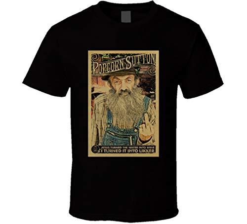 THE FOX TAN Popcorn Sutton Moonshine Hillbilly T-Shirt, Schwarz Gr. 56, Schwarz