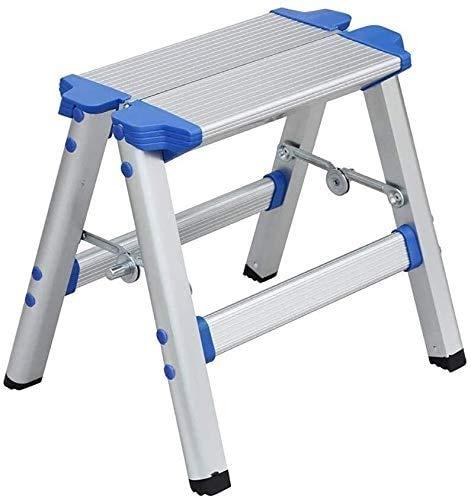 GJSN escaleras y taburetes de doble propósito para el hogar y al aire libre, taburete plegable de pesca, práctico taburete de pedal, banco de zapatos, para adultos al aire libre ligero